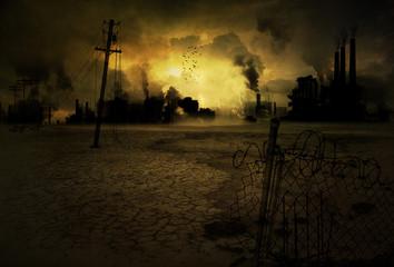 Hintergrund verseuchte Industriestadt V2
