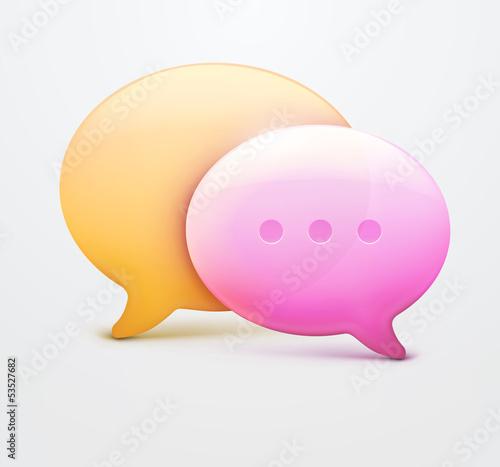 Speech bubble web icons