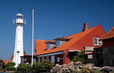 Leuchtturm in Roenne auf Bornholm