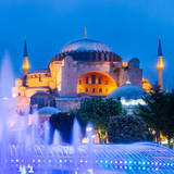 Hagia Sophia, mosque and museum in Istanbul, Turkey.