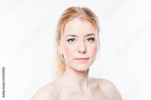 Portrait of a young and beautiful woman