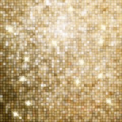 Golden abstract mosaic background. EPS 8
