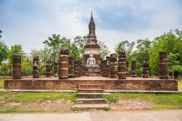 Buddha Statue in Wat Mahathat Temple