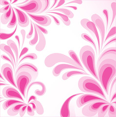 Wedding abstract floral vector background