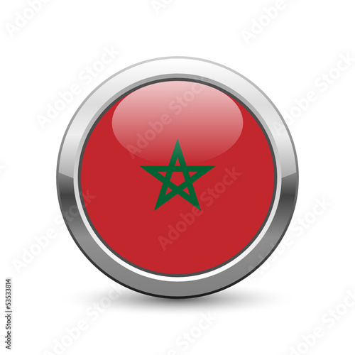 Moroccan flag icon web button