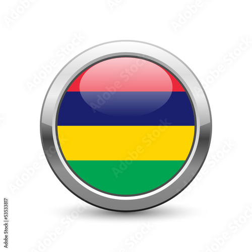 Mauritian flag icon web button