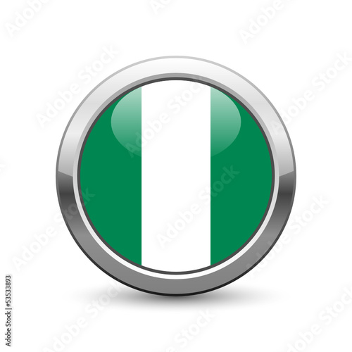 Nigerian flag icon web button