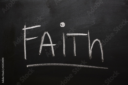 Faith on a blackboard