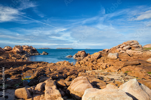 On the impressive coast in Brittany