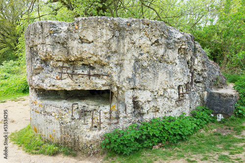 German bunker at Hill 60 near Ypres