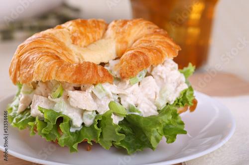 Foto op Aluminium Snack Chicken Salad Sandwich Closeup