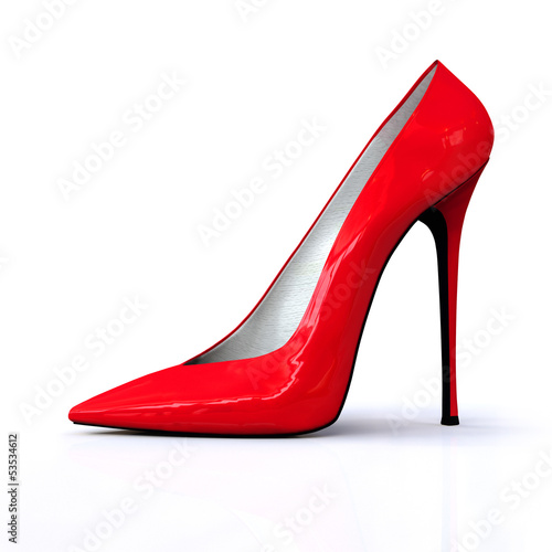 canvas print picture 3D red high heels