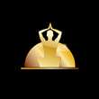 Golden vector Logo spa, yoga and relax