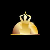 Golden vector Logo spa, yoga and relax
