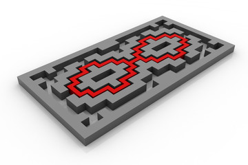 Maze with infinity path.