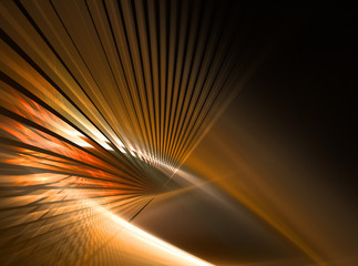 Abstract bright orange lines on black background