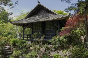 Kildare Japanese gardens, Ireland, Japanese house