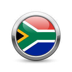 South African flag icon web button