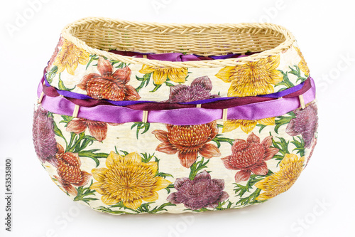 decoupage wicker basket