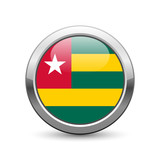 Togolese flag icon web button