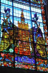 Catedral de Sevilla, vidriera de las Santas Justa y Rufina