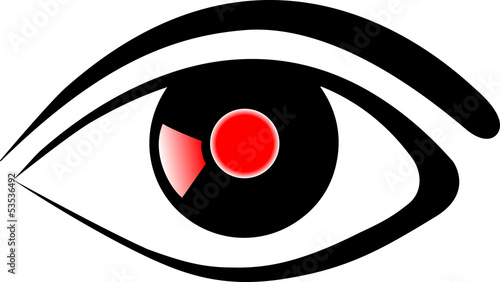 Eye red Vector Icon