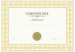 Vector beige certificate