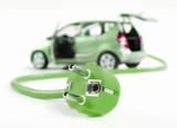 Fototapety Elektroauto mit Stromkabel