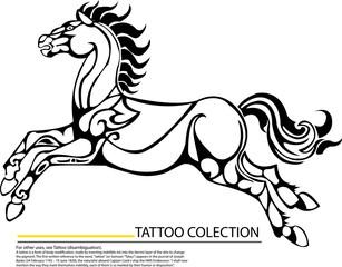 Tribal stallion for mascot or tattoo design