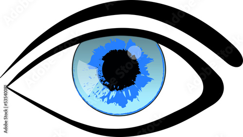 Blue Eye Woman Vector