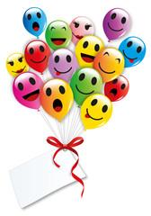 Smiley ballon de baudruche-2