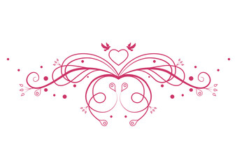 Romantic pattern. Design element. Vector illustration