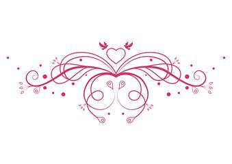 Romantic pattern. Design element. Vector illustration
