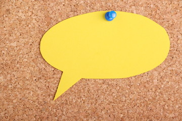 Speech Bubble Post It Note