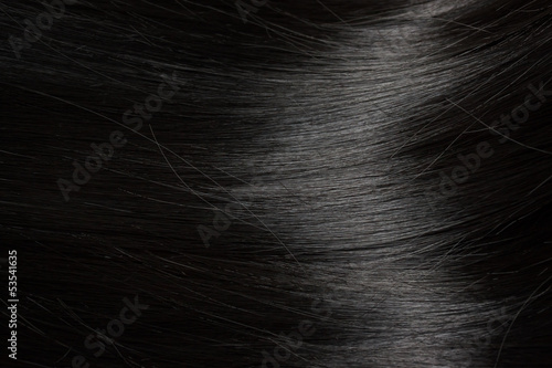 canvas print picture Beautiful black hair