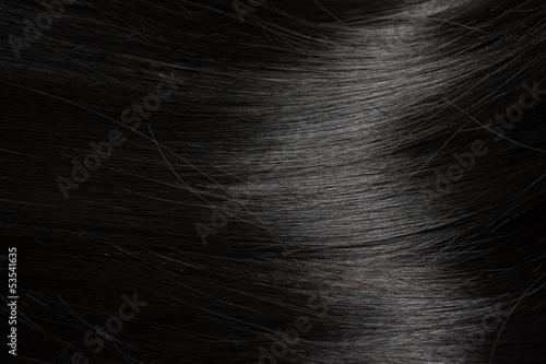 Leinwandbild Motiv Beautiful black hair