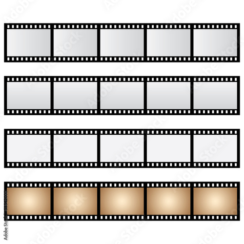 vector pack film strip isolated