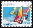 Postage stamp Australia 1992 Windsurfing, Sailboarding