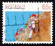 Postage stamp Australia 1992 Rock Climbing, Australian Sport