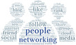 People networking conept in word tag cloud