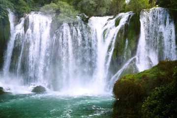 Famous Kravica waterfalls in Bosnia and Herzegovina