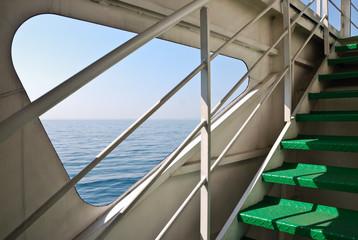 Schiff Fähre Deck Treppe