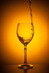 shaking wineglass