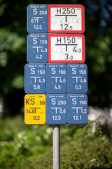 Collection of german utilities supply signage