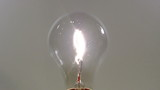 Old Light Bulb on white background. HD