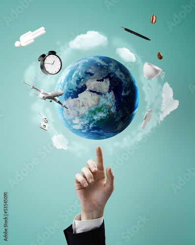 pointing on earth