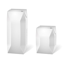 Two Juice Carton Packages Blank White: Vector Version