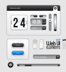 Web UI Elements Design Gray Blue: Part 5