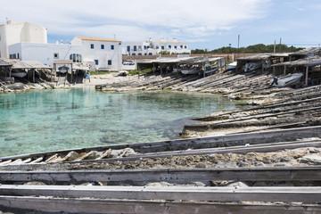 """""""Es Caló de Sant Agustí"""" in Formentera island"""