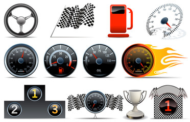 motorized sport icons